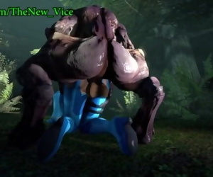 Samus Aran lovemaking with..
